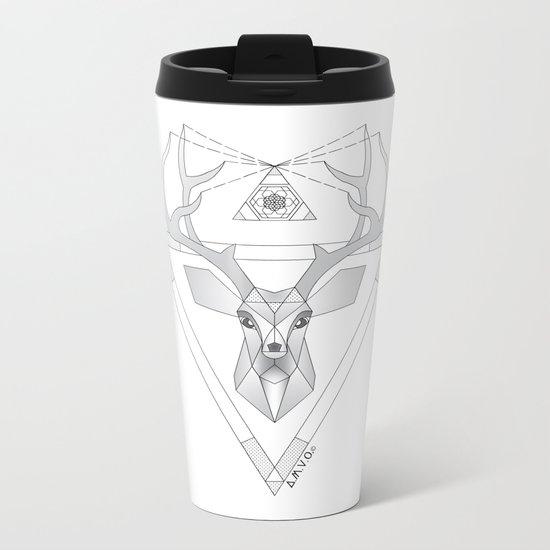 Geometric Deer Metal Travel Mug