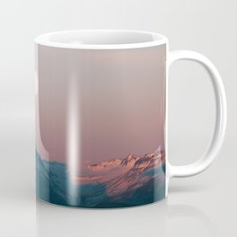 Painterly pastel Moonrise over a Mountain Range at Sunset – Landscape Photography Coffee Mug