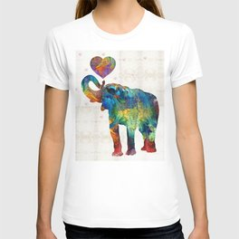 Colorful Elephant Art - Elovephant - By Sharon Cummings T-shirt