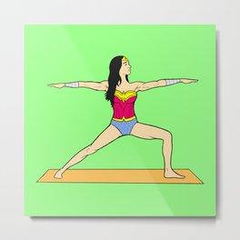 Yoga Wonder Metal Print