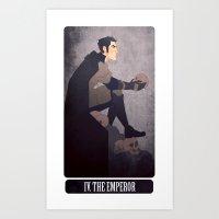 tarot - the emperor. Art Print