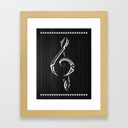 Polynesian Treble Clef Framed Art Print
