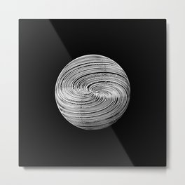 Twisted Twine Sphere Metal Print