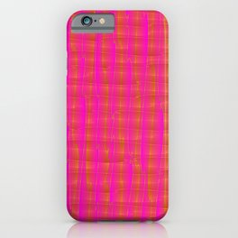 Square intersections pink lines on a orange tree. iPhone Case
