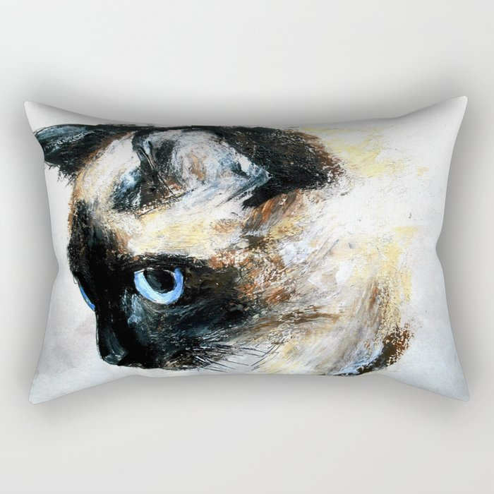 Siamese Cat Unedited Rectangular Pillow