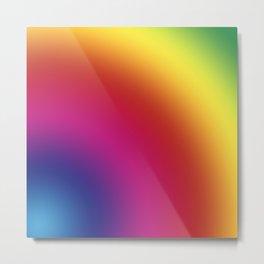 Multicolored lines in a circular pattern. Metal Print