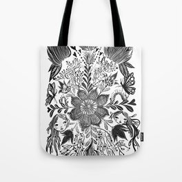 Me and you, day and night in our messy garden Tote Bag