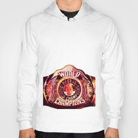nba Hoodies featuring NBA CHAMPIONSHIP BELT by mergedvisible