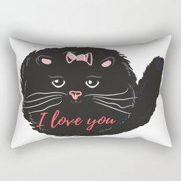Cute kitty. I love you Rectangular Pillow