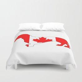 Canada Dachshund Duvet Cover
