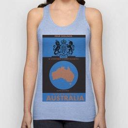 Vintage australian map poster Unisex Tank Top