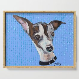 Mia the Italian Greyhound Dog Serving Tray