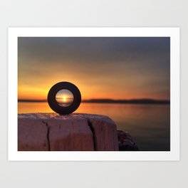 Sunset in a lens Art Print