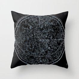 Northern Hemisphere Constellations White Blue Throw Pillow