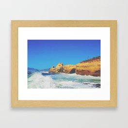Cape Kiwanda Crashing Waves Framed Art Print