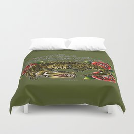 Time is Chasing After all of Us. Duvet Cover