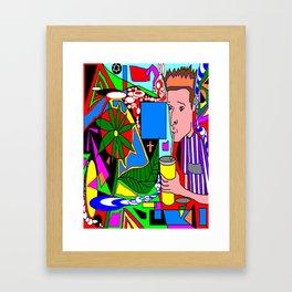Big gulp drinker Framed Art Print