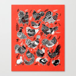 Lil Cluckers Canvas Print