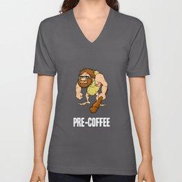 Neanderthal Caveman Coffee design for Men Unisex V-Neck