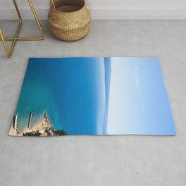 Out to Sea | Open Water Mediterranean Coast Expanse Art Print Tapestry Rug