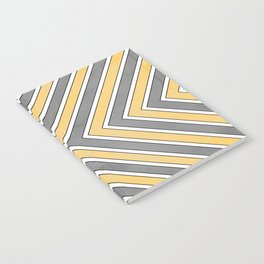 Stripes in Grey and Yellow-bold Notebook