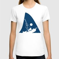 jaws T-shirts featuring Jaws by albertocubatas