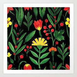 Botanic Watercolor Collection #4 Art Print