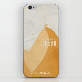 Queen of Sheba, André Malraux, book cover, Yemen, travel, adventure, wanderlust, travelling stories iPhone Skin