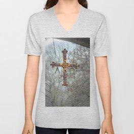 Asturias Christ's cross Unisex V-Neck