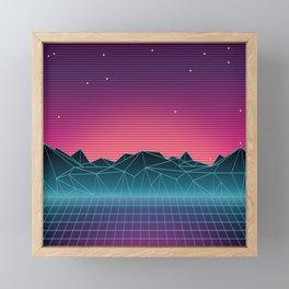Vaporwave Landscape of the Future Framed Mini Art Print