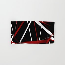 Seamless Red and White Stripes on A Black Background Hand & Bath Towel