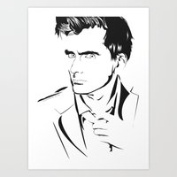 david tennant Art Prints featuring David Tennant by Christine Ring