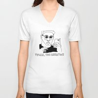 tyler the creator V-neck T-shirts featuring Tyler, The Creator by ☿ cactei ☿