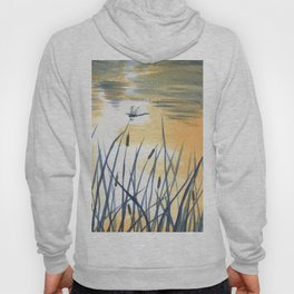 Dawn on the pond Hoody