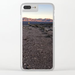 Catching the Golden Hour in Death Valley Clear iPhone Case