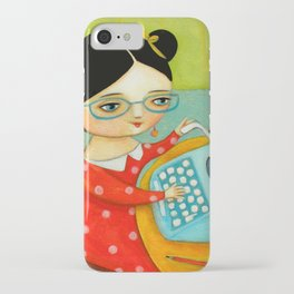 The writer of stories iPhone Case