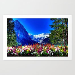 SPRING BANFF NATIONAL PARK CANADA Art Print