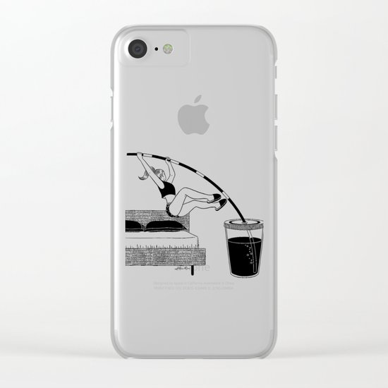 Wake up Clear iPhone Case