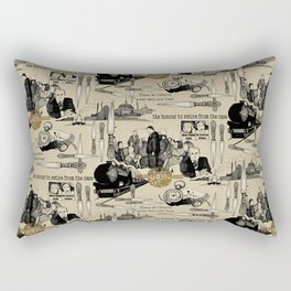 Murder on the Orient Express (Agatha Christie) Toile de Jouy Rectangular Pillow