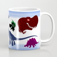 cartoons Mugs featuring Dinosaur Cartoons by Cartoonasaurus