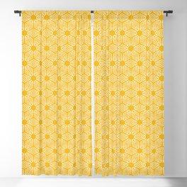 Yellow damask shapes seamless pattern. Blackout Curtain