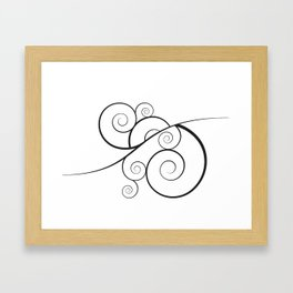 WHAT A SWIRL DAY WE ARE HAVING ;) Framed Art Print