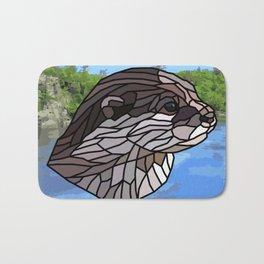 Llyca Queen of the Rivers - Mosaic Otter Bath Mat