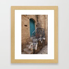 Door in Jaffa Framed Art Print