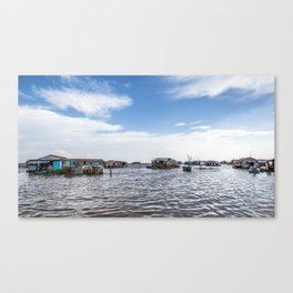 Chong Khneas Floating Village IV, Siem Reap, Cambodia Canvas Print