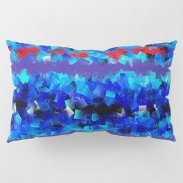 Blue lights and red birds Pillow Sham