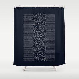 Furr Division Cats (Dark Blue) Shower Curtain