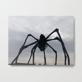 Spider Sculpture Metal Print