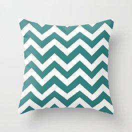 Celadon green - green color -  Zigzag Chevron Pattern Throw Pillow