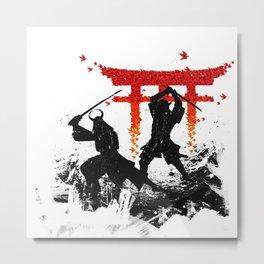 Samurai Duel Metal Print